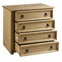 Corona Small 4 Drawer Chest