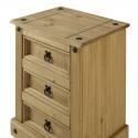 Corona Medium 3 Drawer Bedside