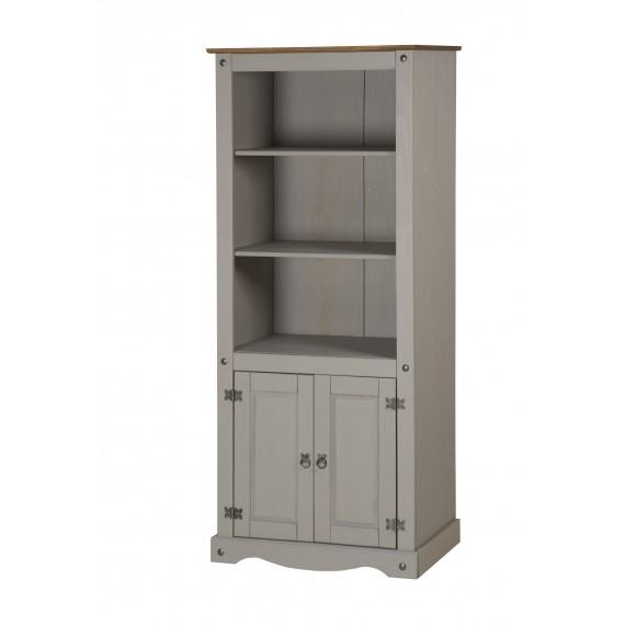 Corona Grey Wax 2 Door Bookcase