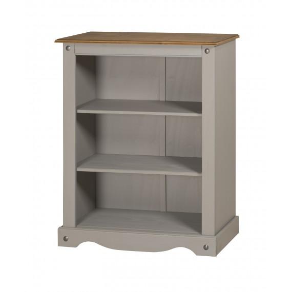 Corona Grey Wax Small Bookcase
