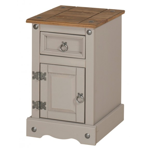Corona Grey Wax Narrow Pot Cupboard