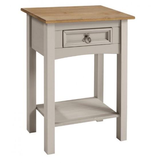 Corona Grey Wax 1 Drawer Console Table