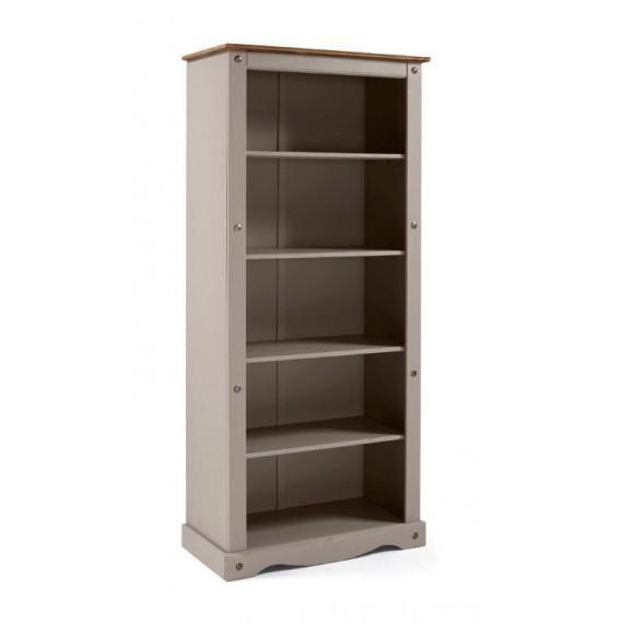 Corona Grey Wax Large Bookcase
