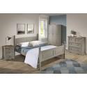 Corona Grey Wax Medium 3 Drawer Bedside