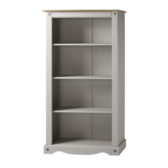 Corona Grey Wax Medium Bookcase