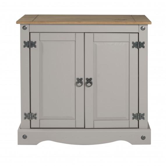 Corona Grey Wax 2 Door Cupboard