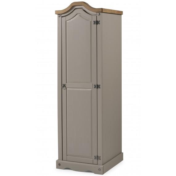 Corona Grey Wax 1 Door Arch Top Wardrobe