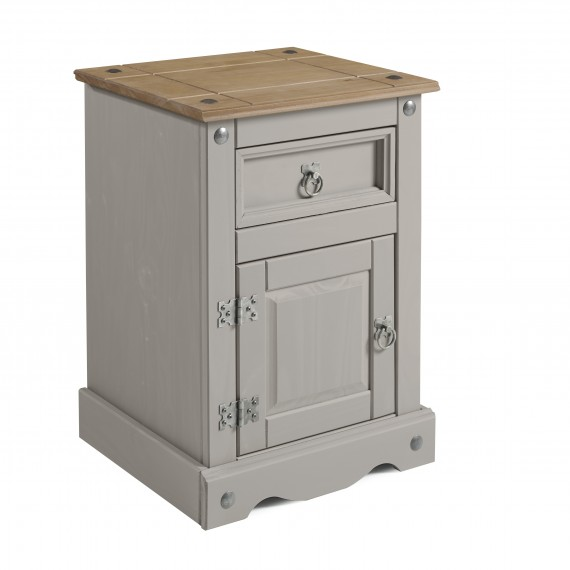 Corona Grey Wax Medium Pot Cupboard