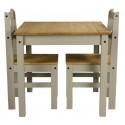 Corona Grey Wax Rio Dining Table & 2 Chairs