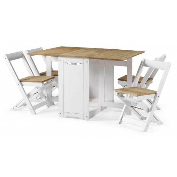 Corona White Butterfly Dining Set