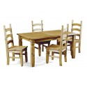 Corona Small Extending Dining Table & 4 Chairs