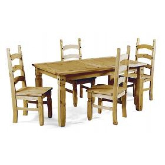 "Corona 5'0"" Dining Table & 4 Chairs"